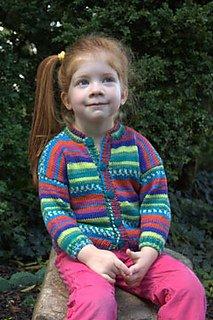 Plymouth Pattern 1213 Child's Cardigan in Adriafil KnitCol yarn