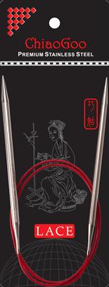 ChiaoGoo Red Lace Steel Circular Needles 01 tip