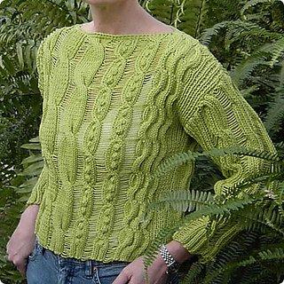 Midsummers Aran pattern from Chris Bylsma Designs