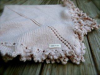 Mini Purl baby blanket pattern from Big Bad Wool