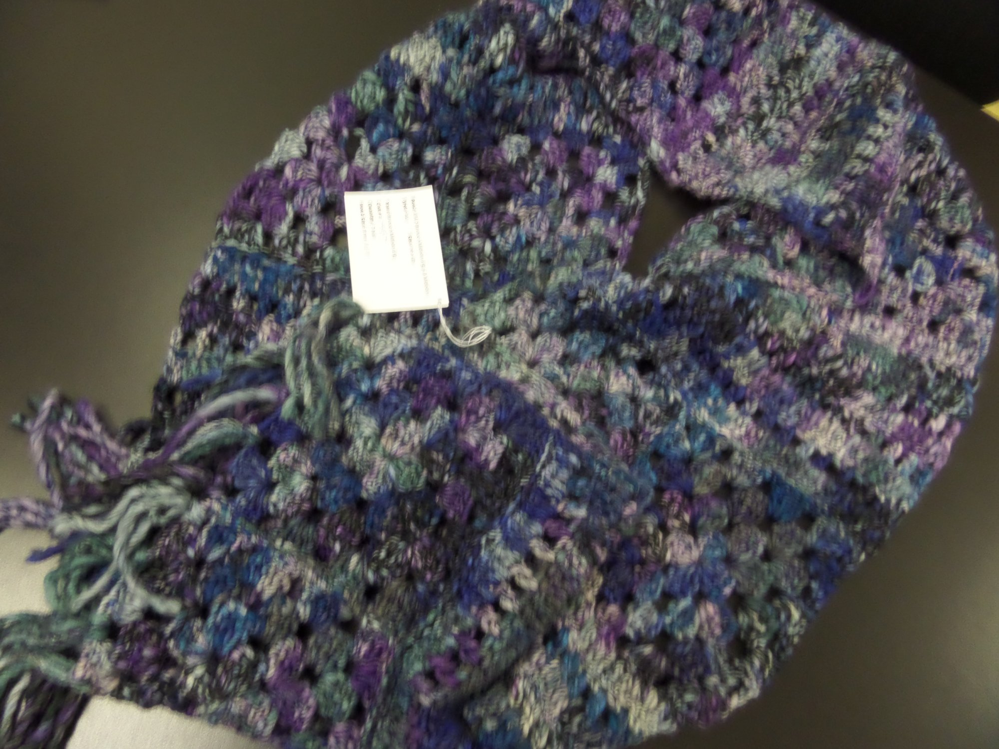 Nuo scarf model in Millefiori Big from Berroco
