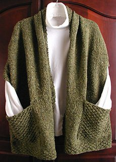 Reader's Wrap pattern from Lisa Carnahan