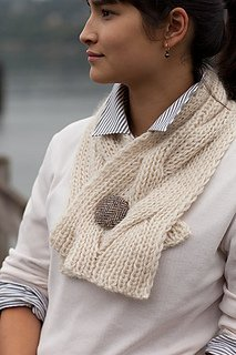 Reversible Cable Neck Wrap and Scarf pattern from Churchmouse
