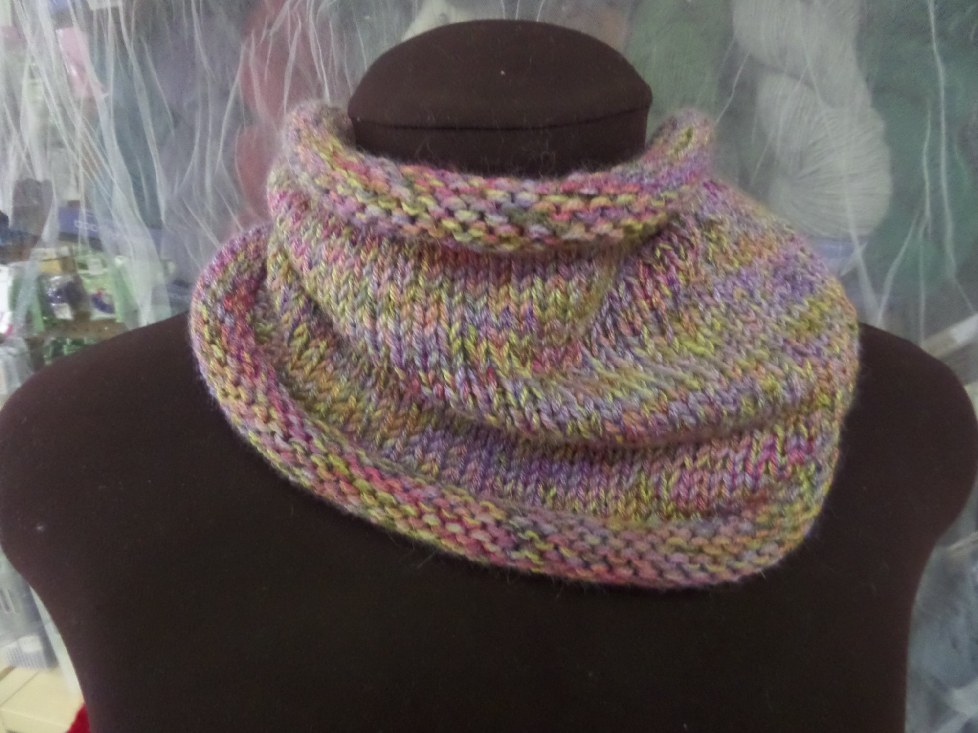 Come Together Neck Warmer in Silky Alpaca Lace