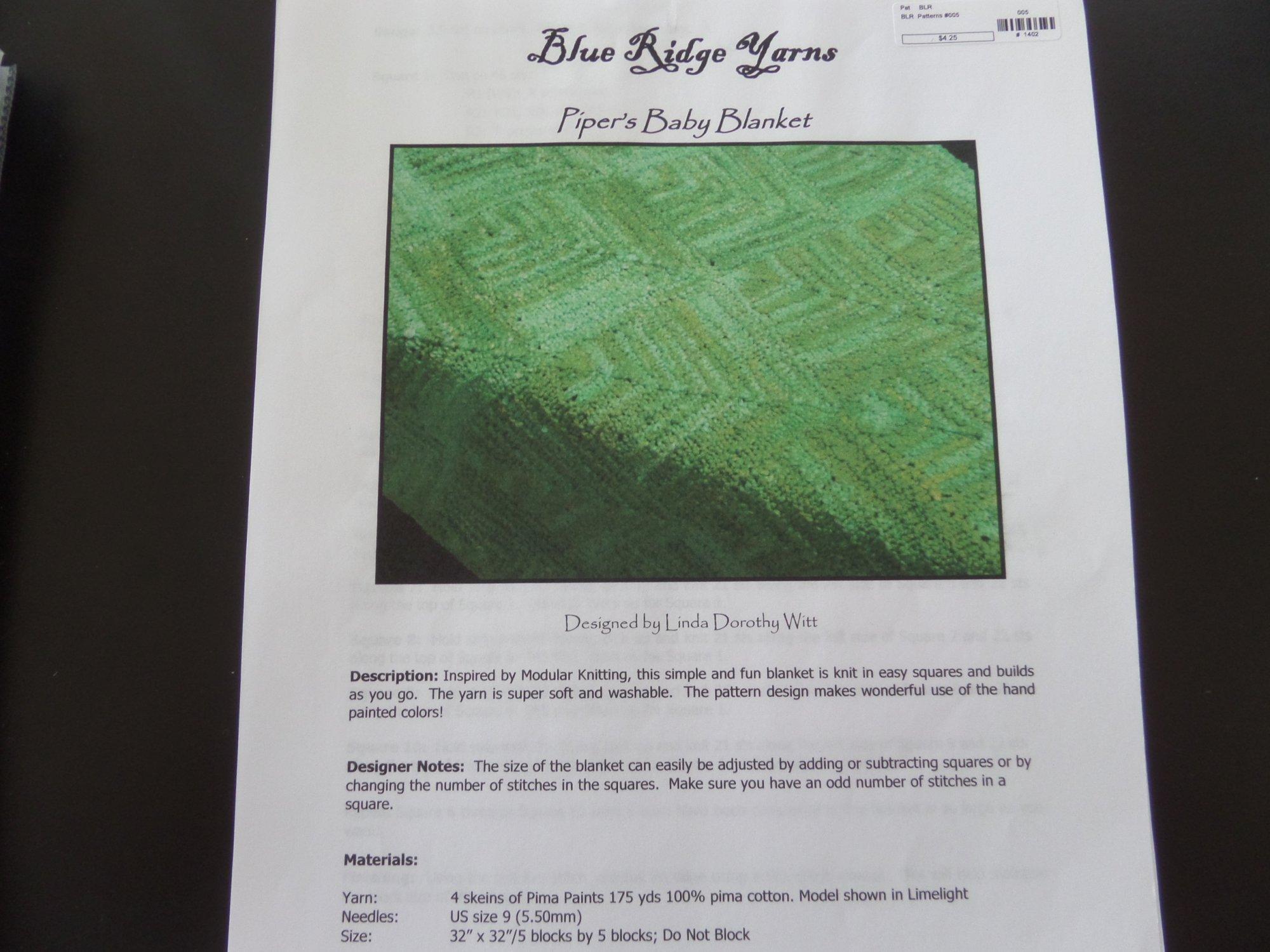 Pima Paints Patterns from Blue Ridge Yarns