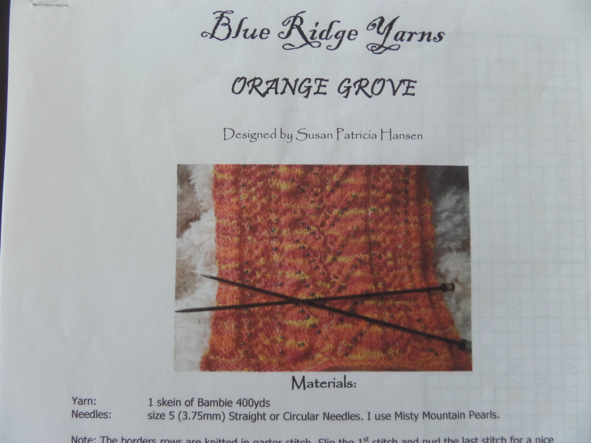 Bambie Patterns from Blue Ridge Yarns