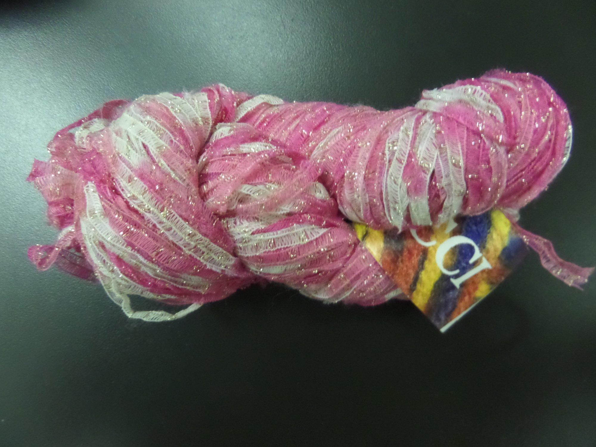 Metallic Ribbon Variegated yarn from Lucci Yarn