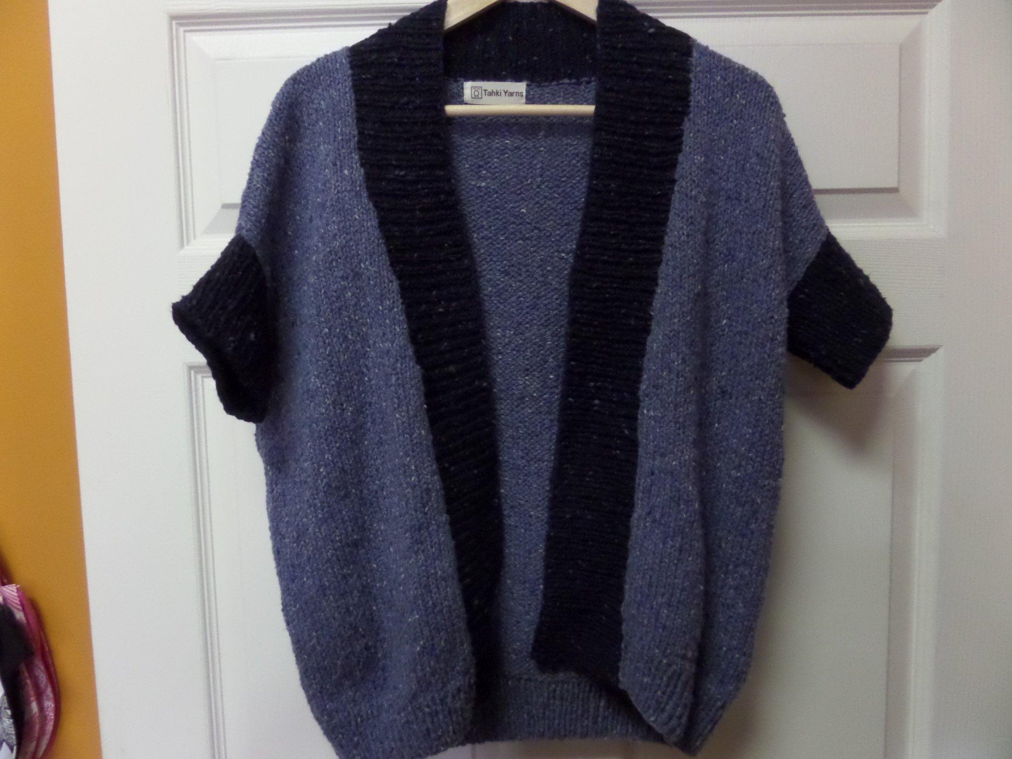 Classico Vest model in Tara Tweed yarn from Tahki