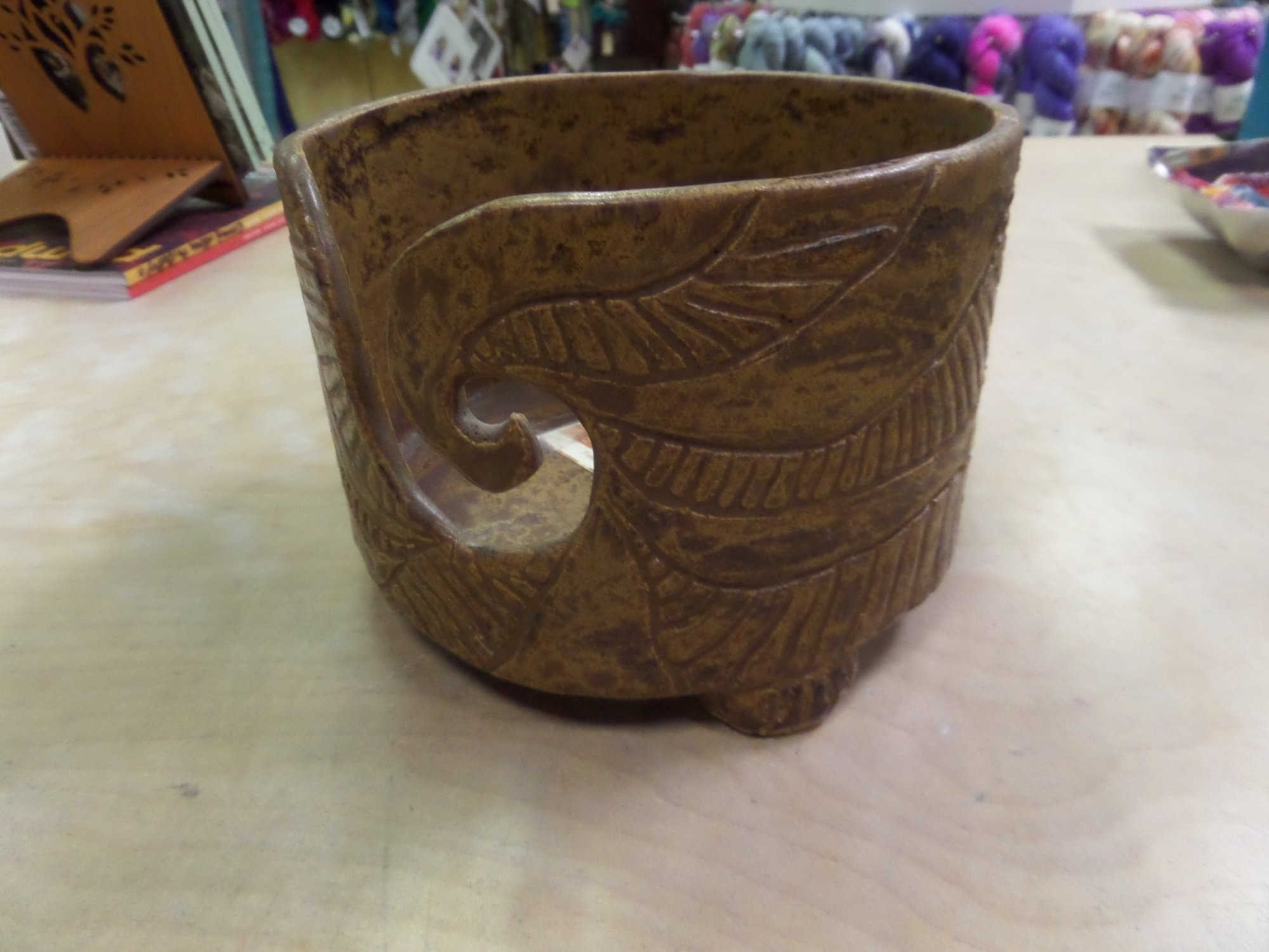 Ceramic Yarn Bowl by Karen Brown