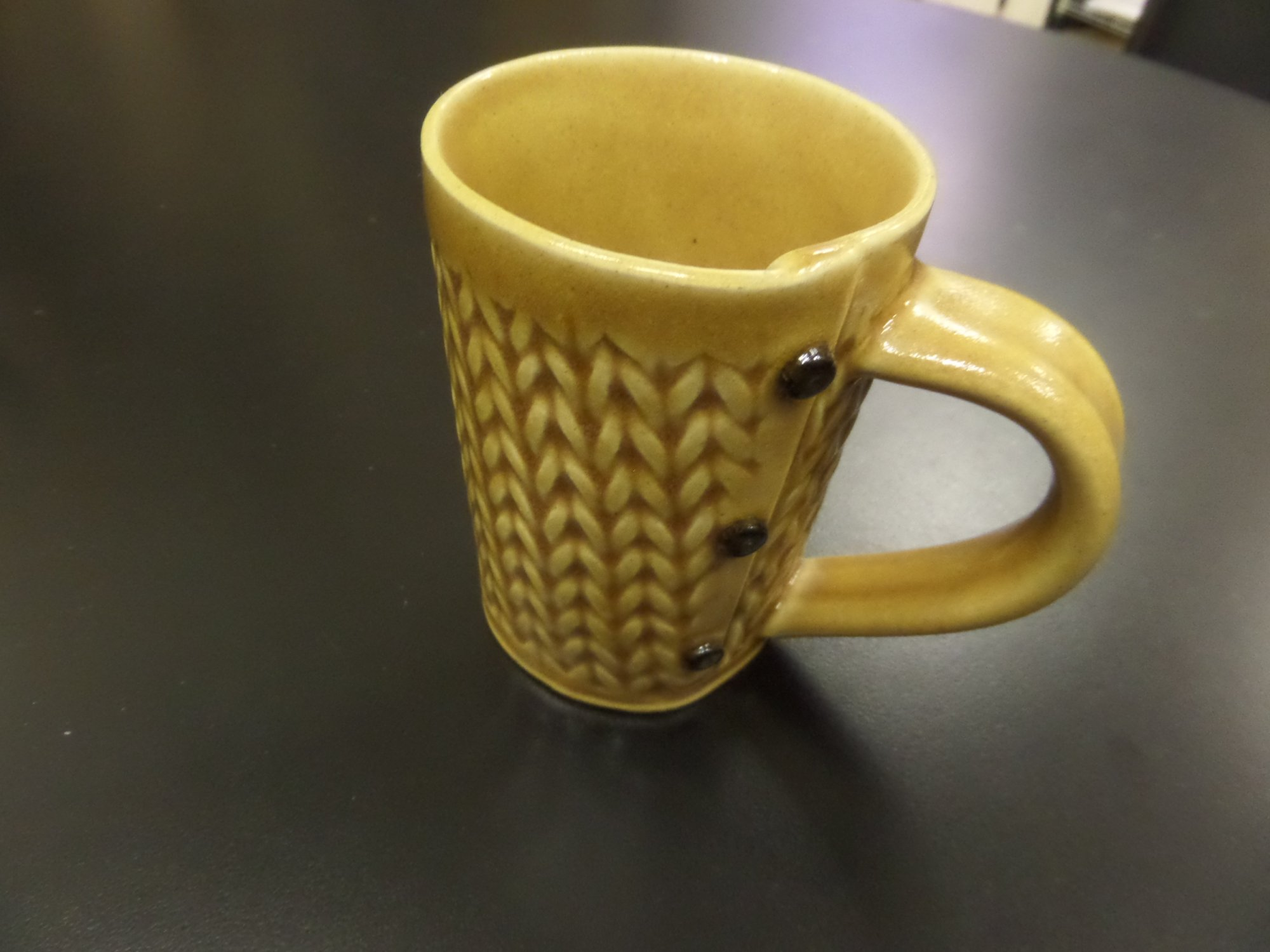 Knitted Mug by Creative with Clay