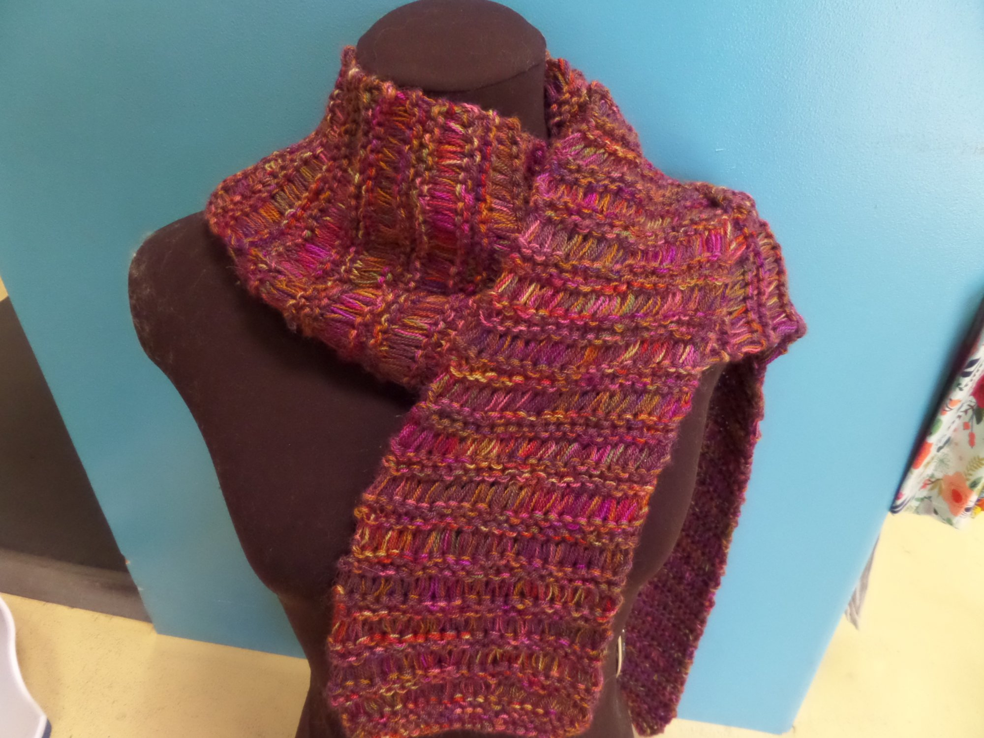 Come Together Drop Stitch Scarf in Silky Alpaca Lace