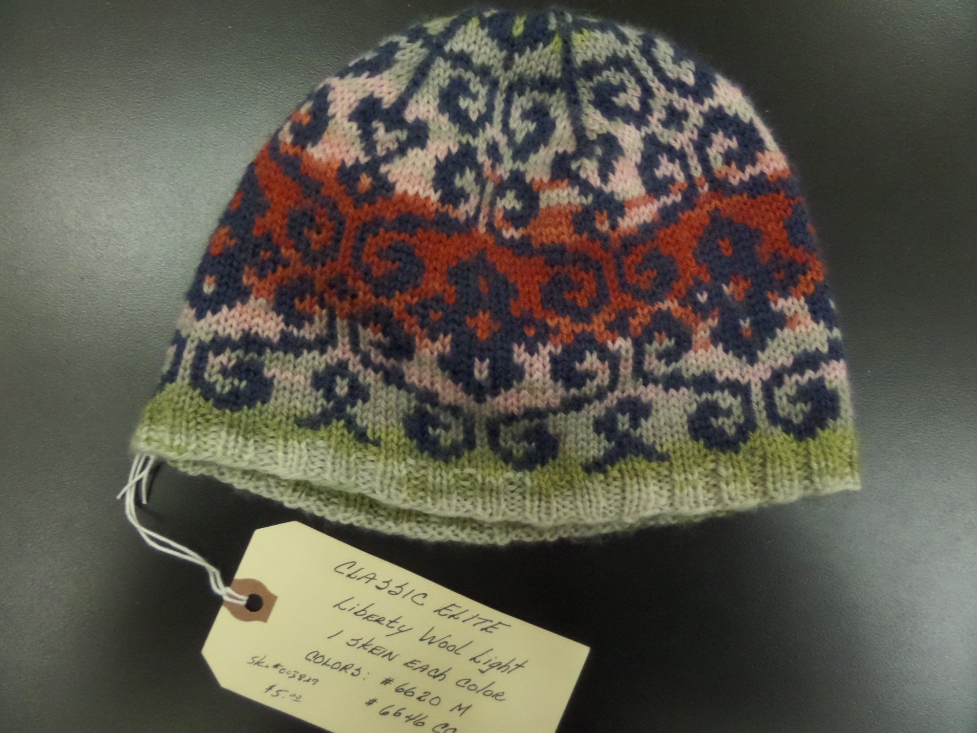 Julie hat in Liberty Wool Light yarn from Classic Elite