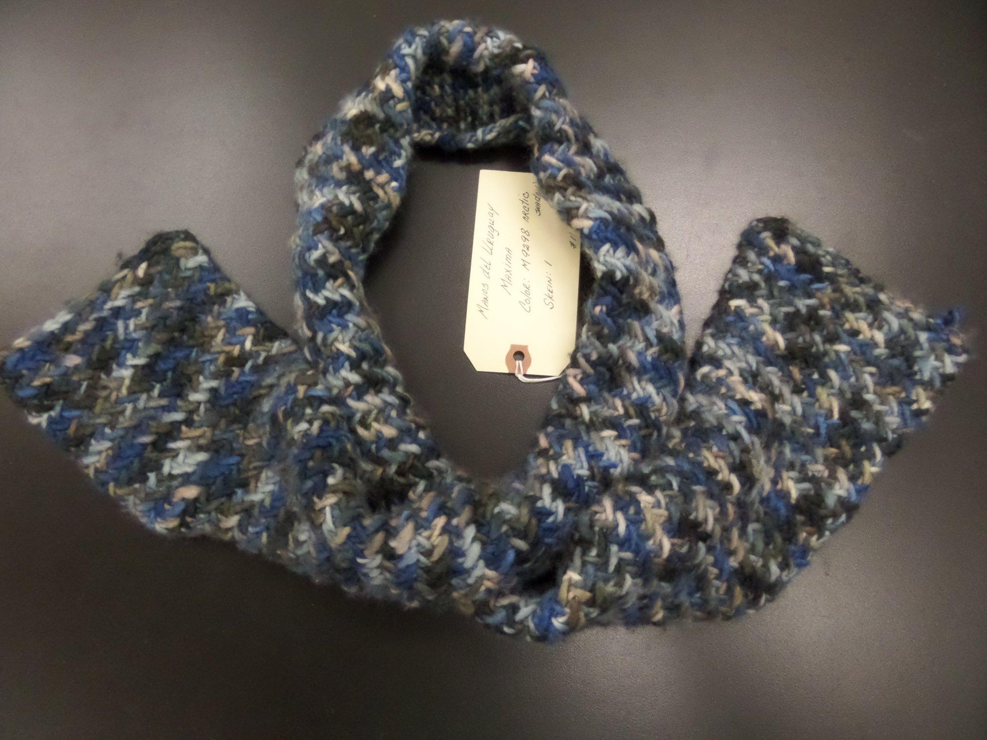 Handsome Herringbone scarf model in Maxima from Manos del Uruguay
