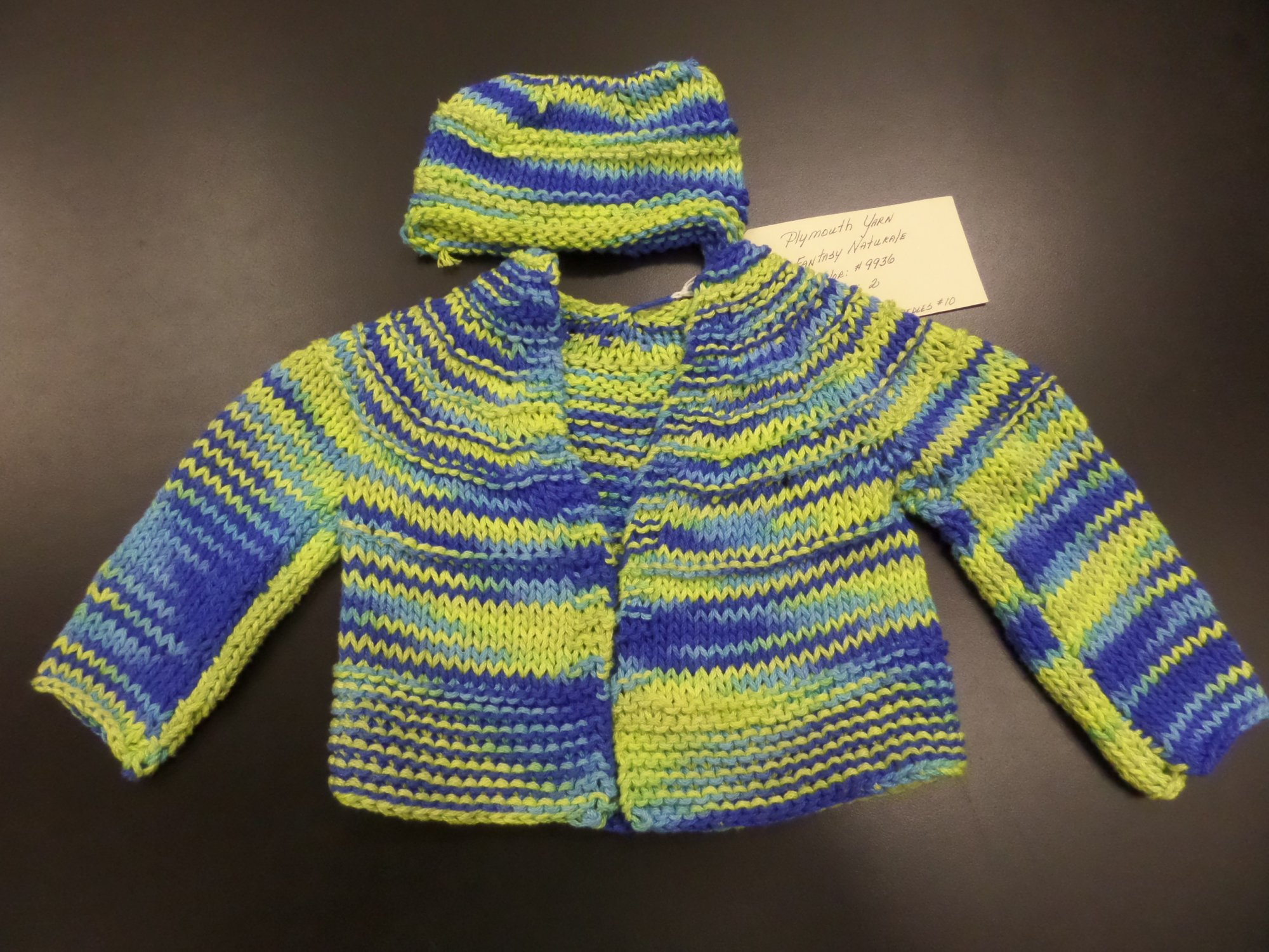 Baby Boy 5 Hour Sweater model in Fantasy Naturale from Plymouth