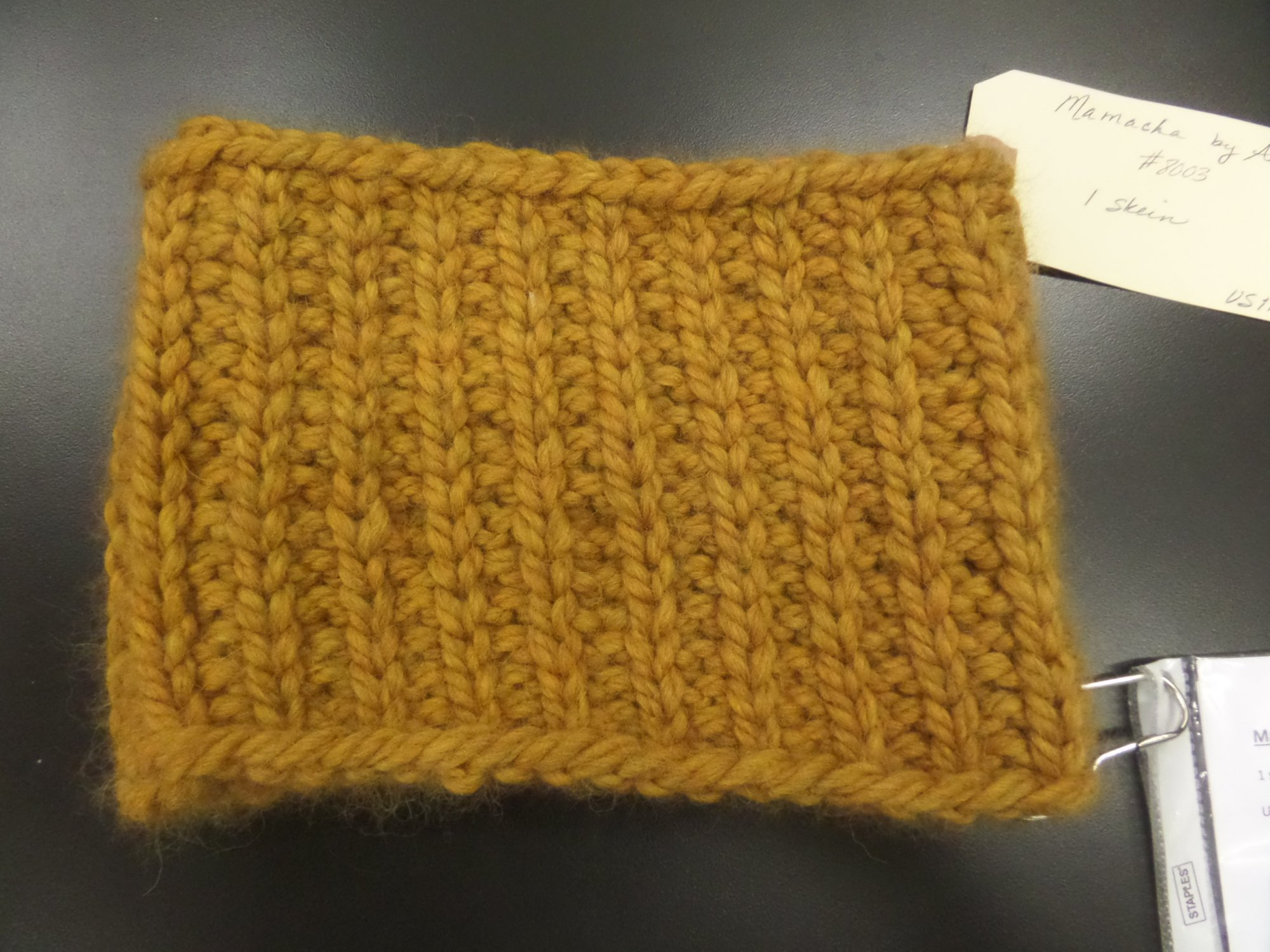 Katherine's Cowl model in Mamacha yarn from Amano