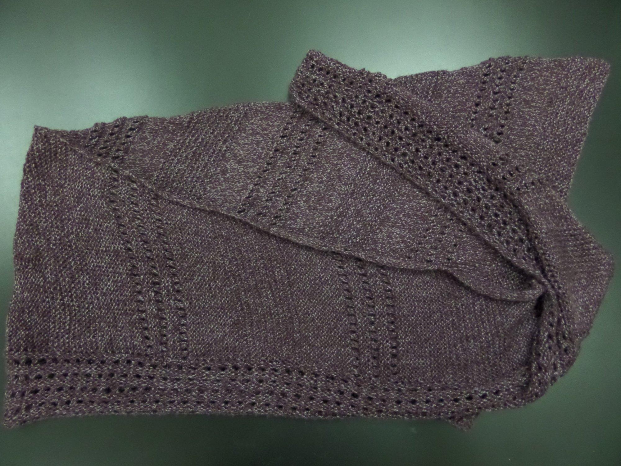 Tala shawl model in Ginkgo by Berroco