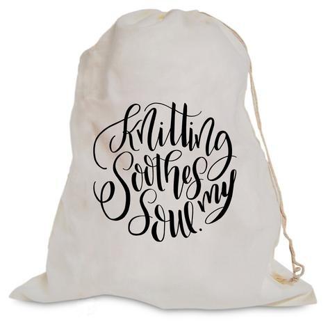 Knitterella Drawstring Project Bag