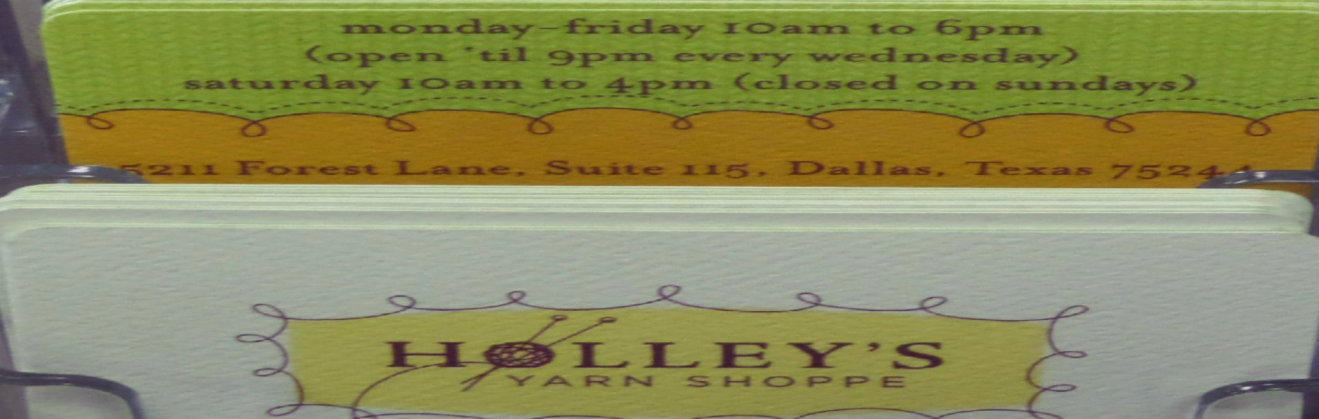 Holley's Yarn Shoppe | North Dallas | Texas
