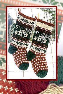 Christmas Stocking - Cabin