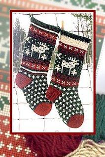 Christmas Stocking - Moose