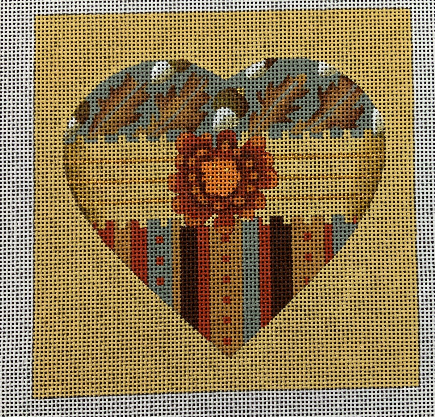 Acorn Heart,13 ct.,7x7