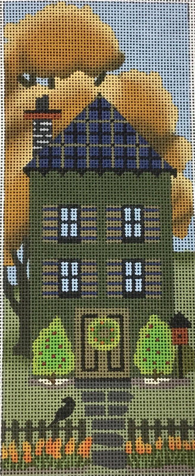 Dark Green Autumn House, 18M, 8.25x2.25