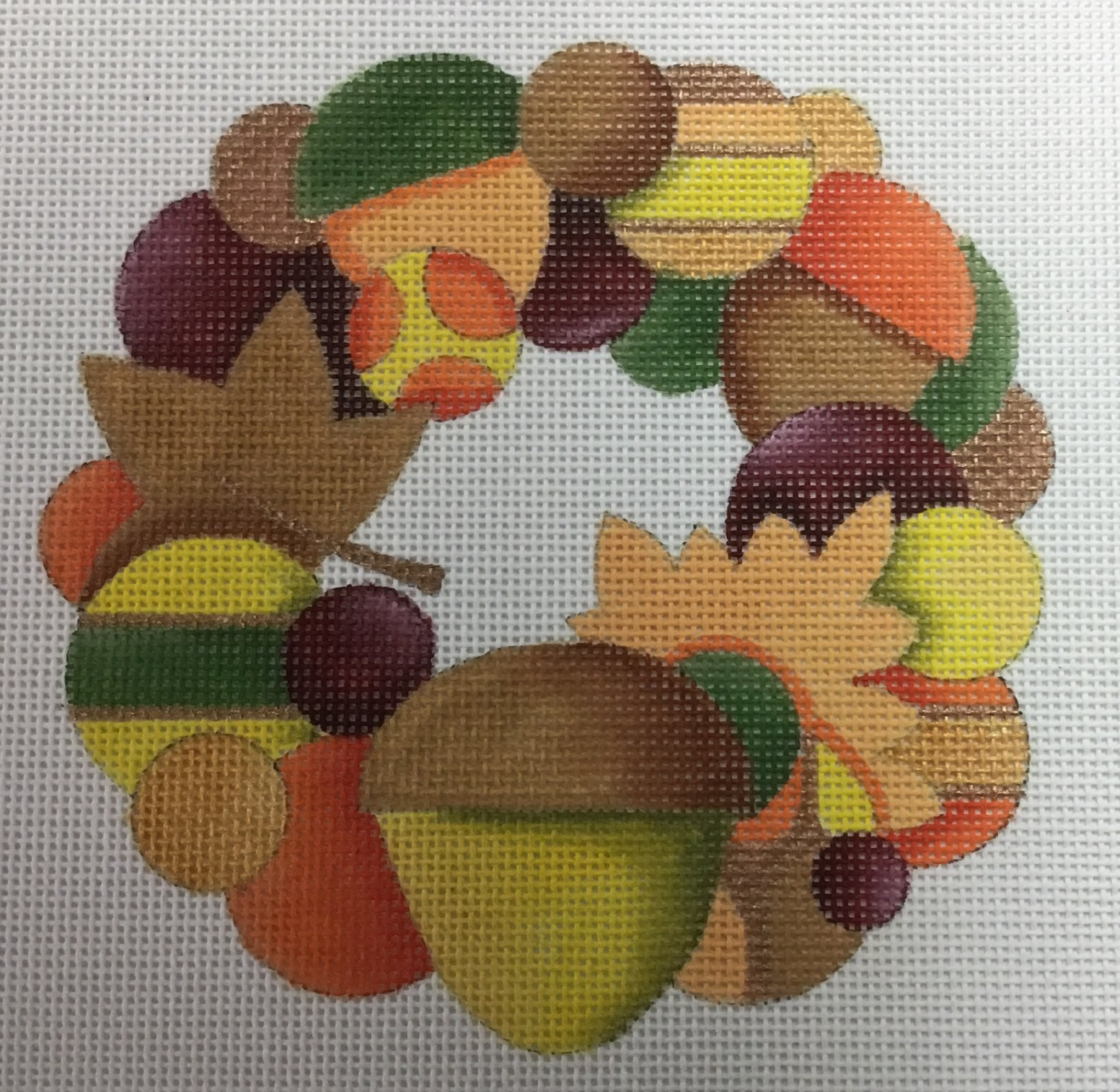 Acorn Wreath, 5x5, 18M
