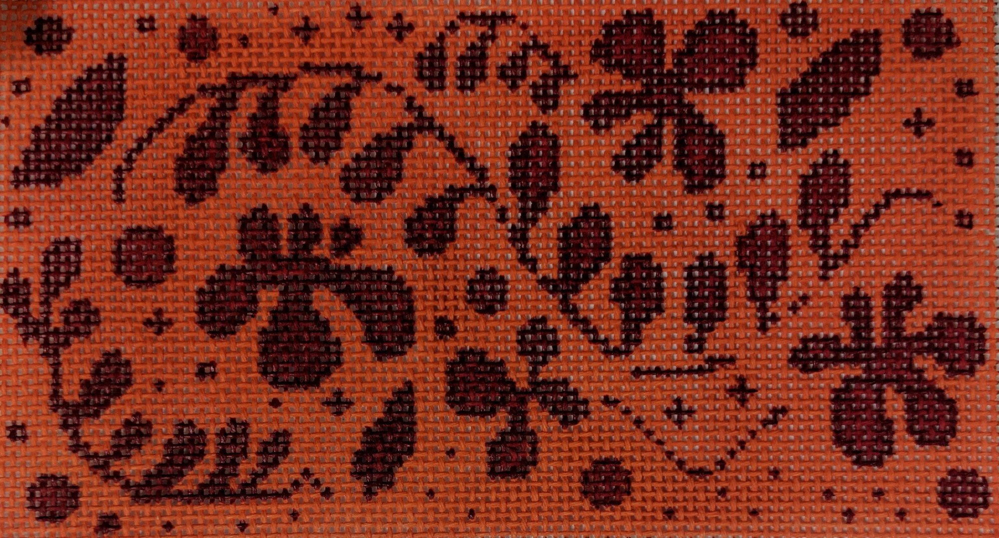 Red/Orange Floral, Fits Self Finishing CCW, 18 ct., 3 x 5.5