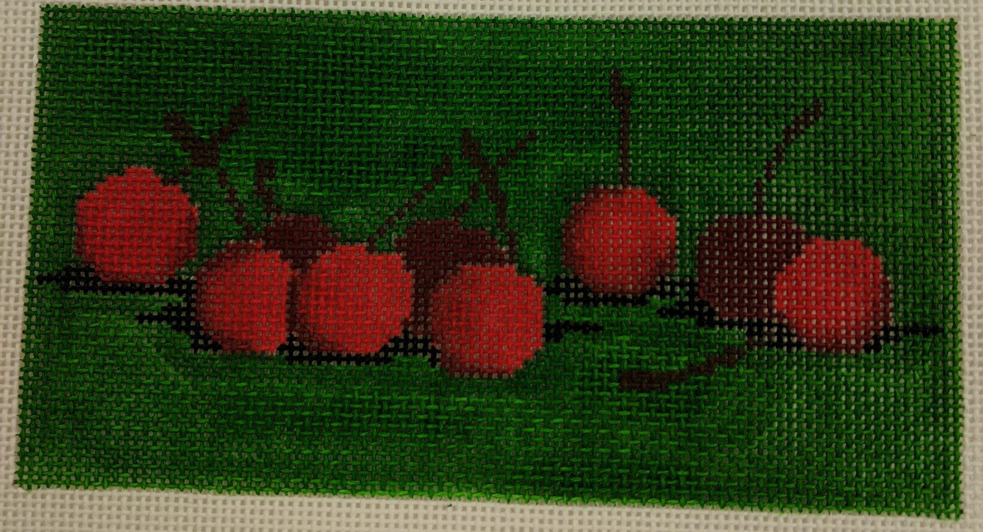 Cherries on Green, Fits Self Finishing CCW, 18 ct., 3 x 5.5
