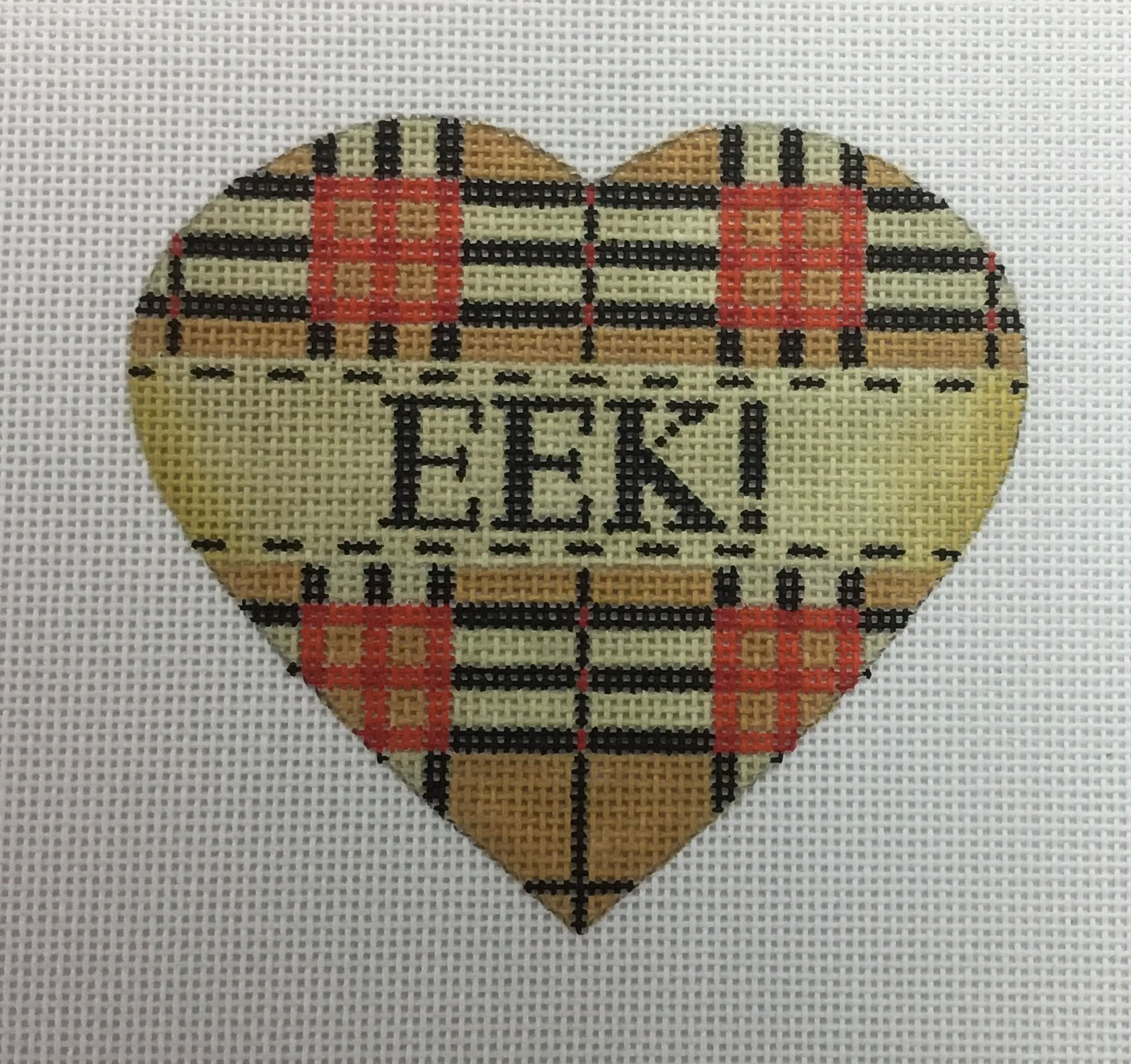 EEK Heart,18 ct., 4x4