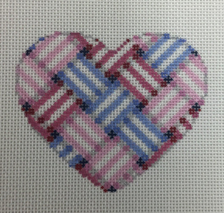 Ribbon Heart,18 ct.,3x3 1/2