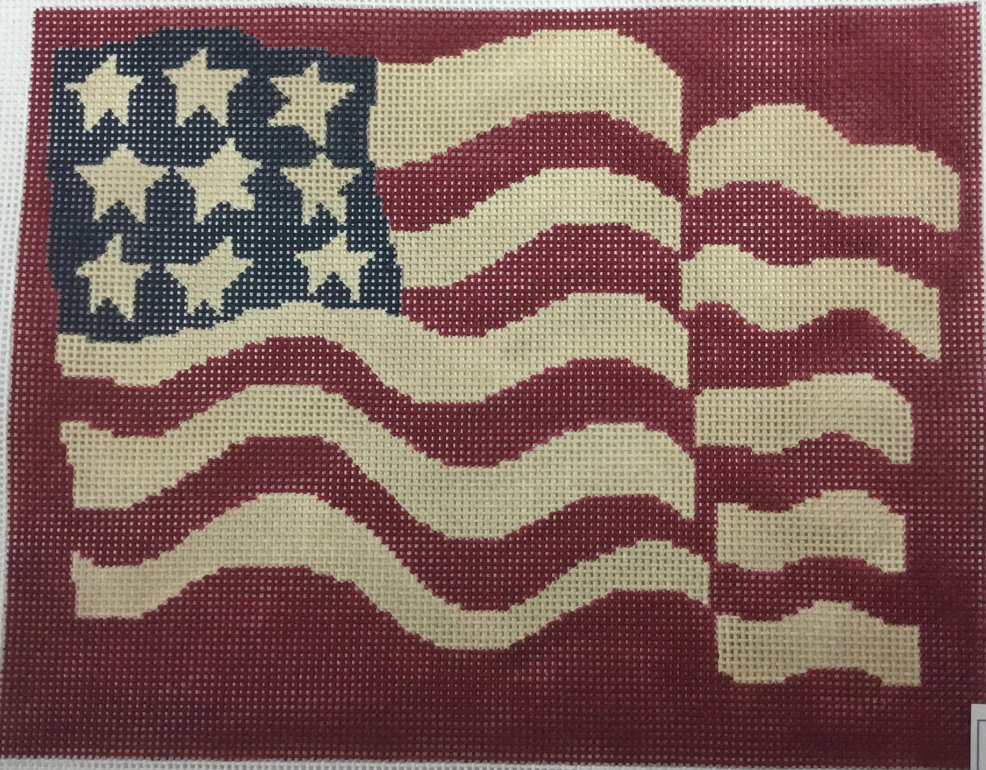 Red Waving Flag, 13M, 8x10