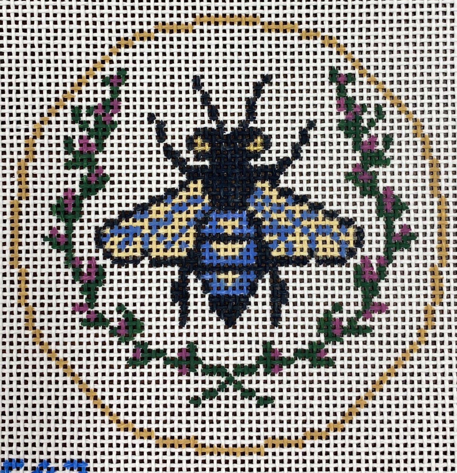 Bee Round, blue,13 ct.,4.25