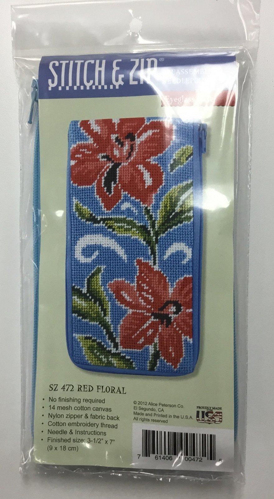 Red Floral Eyeglass Case