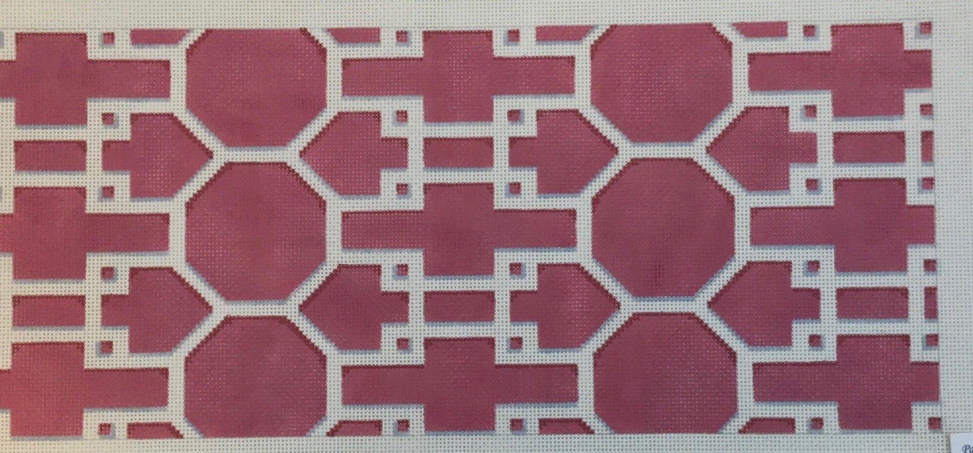 Geometric - Pink, 13 ct., 7.75 x 8