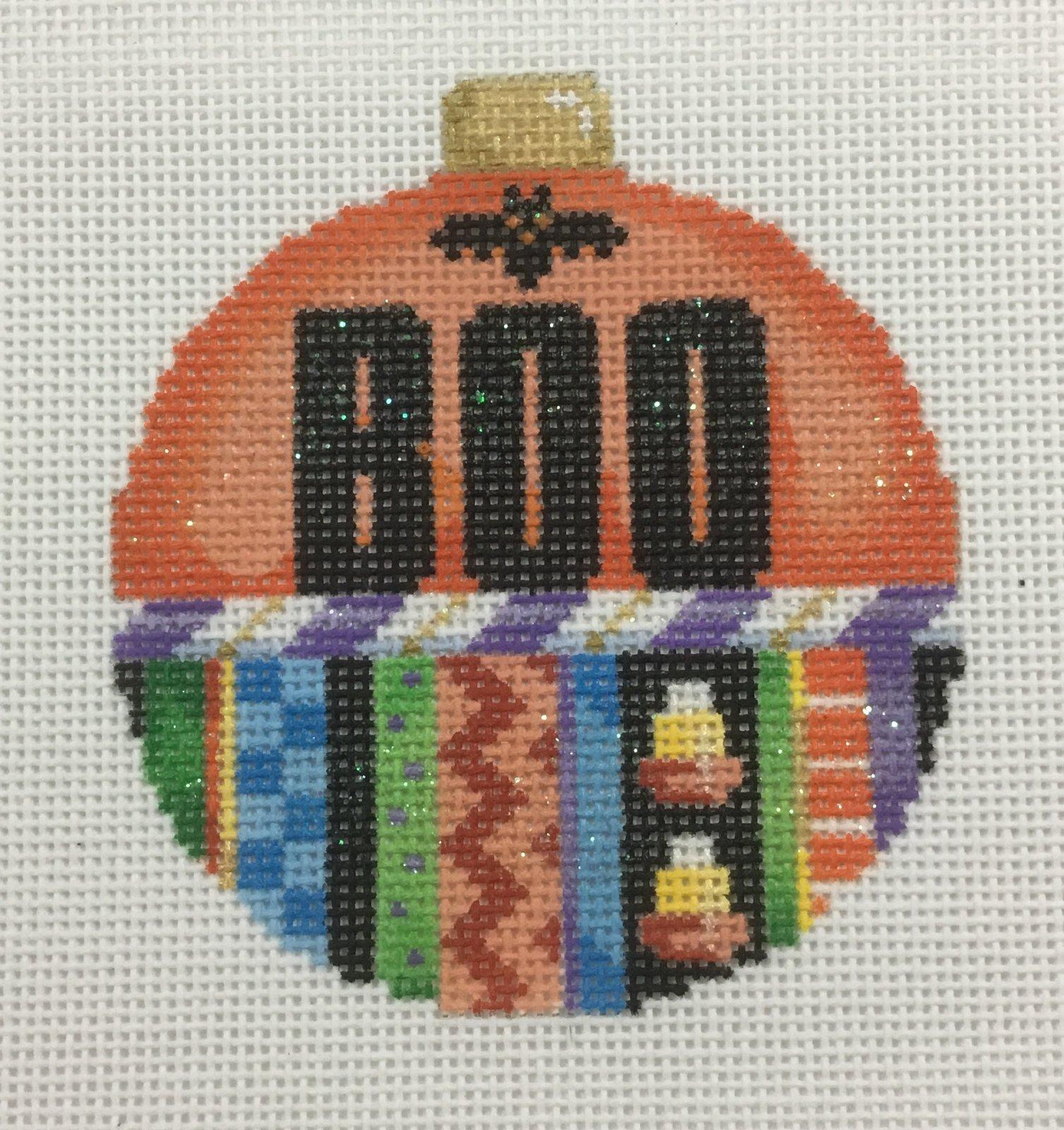 BOO Ball Ornament,18 ct.,3