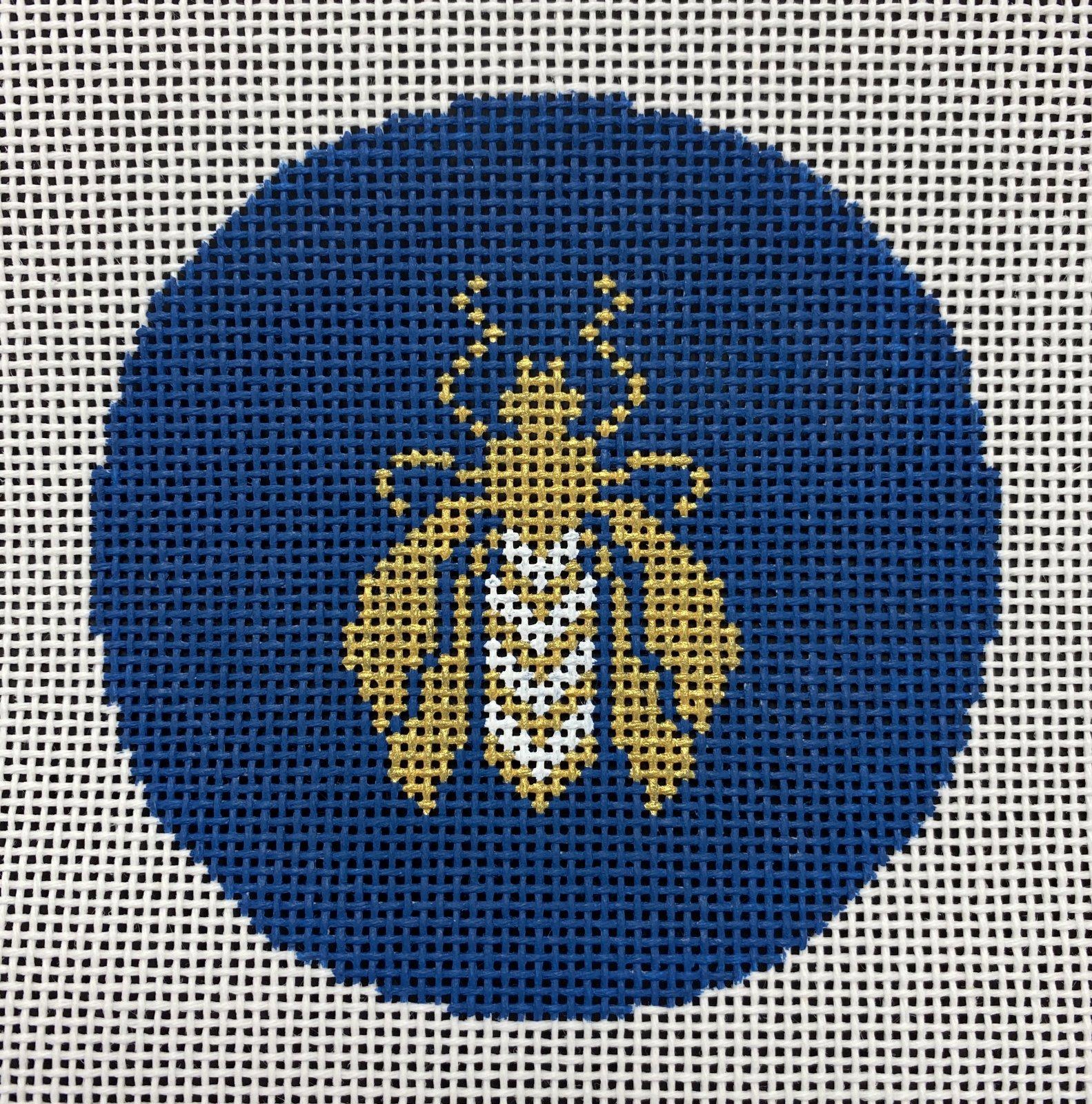 Bee Round Blue,14 ct.,4