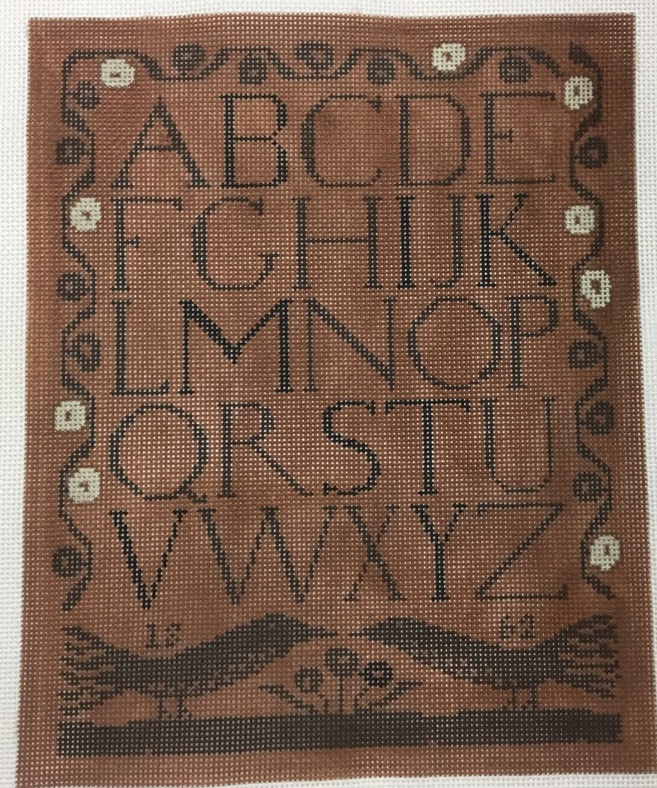 Brown on Brown Sampler,13 ct.,9 1/2x12