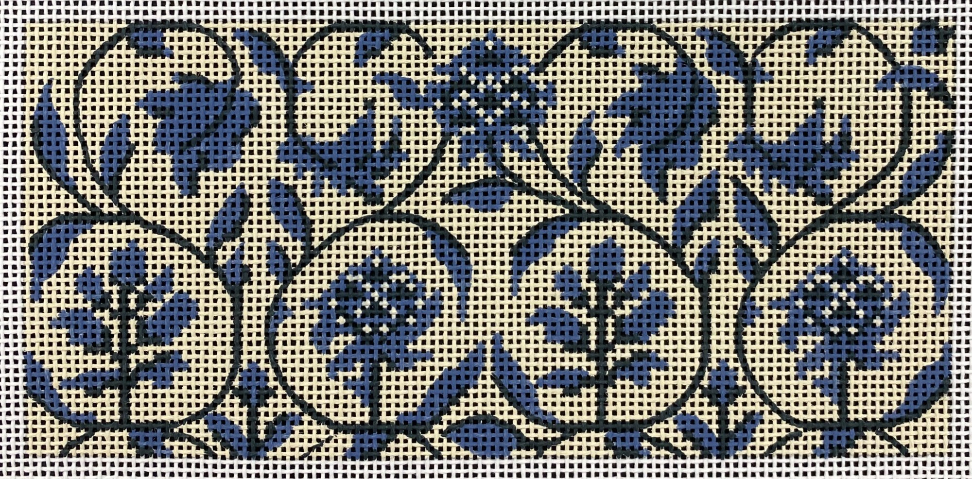 Blue Toile,18 ct.,2.75x6