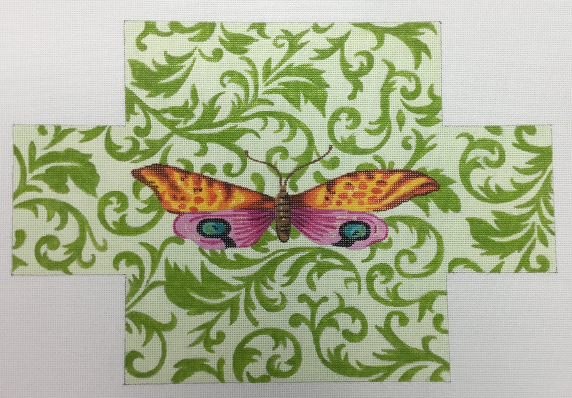 BUTTERFLY ON GREENS, 9x13.5, 18M