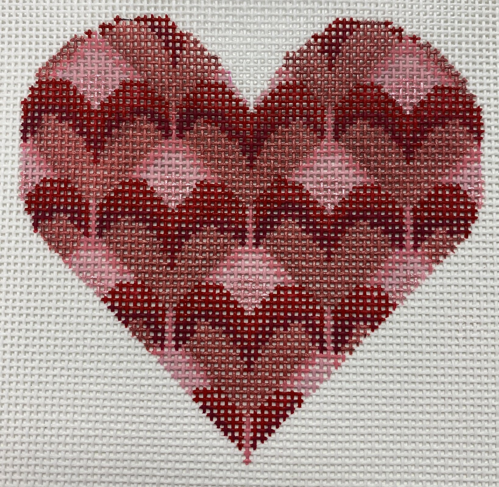 Pink/Red Heart,18 ct.,3.5