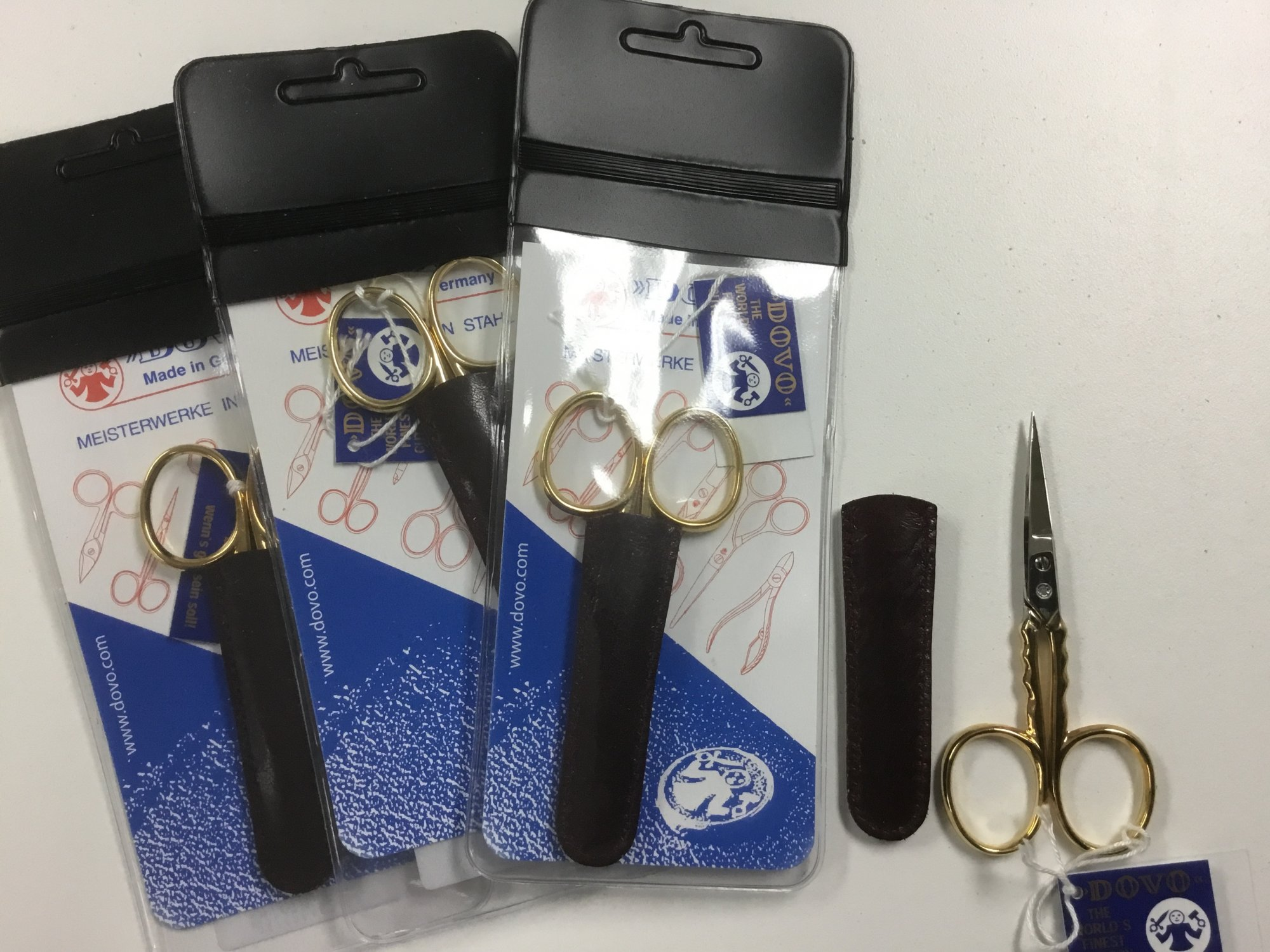 DOVO Scissors , Gold Plated 200353