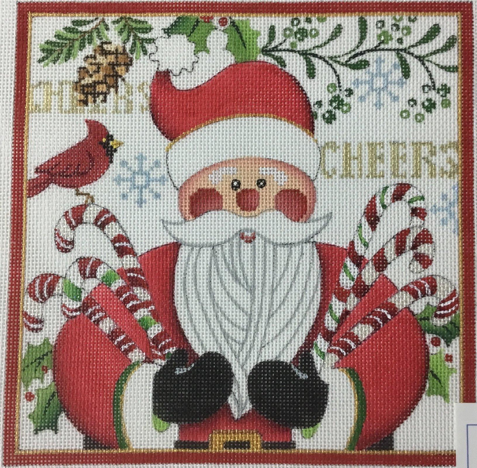 Cheers Santa w/ Candy Cane, 18M, 7x7