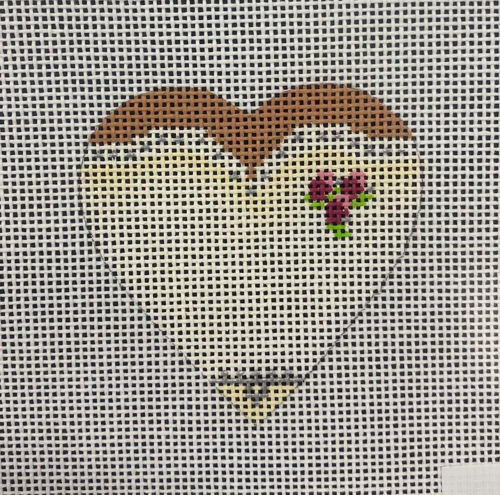 Bride Heart Ornament, 2.25x2.25, 18M