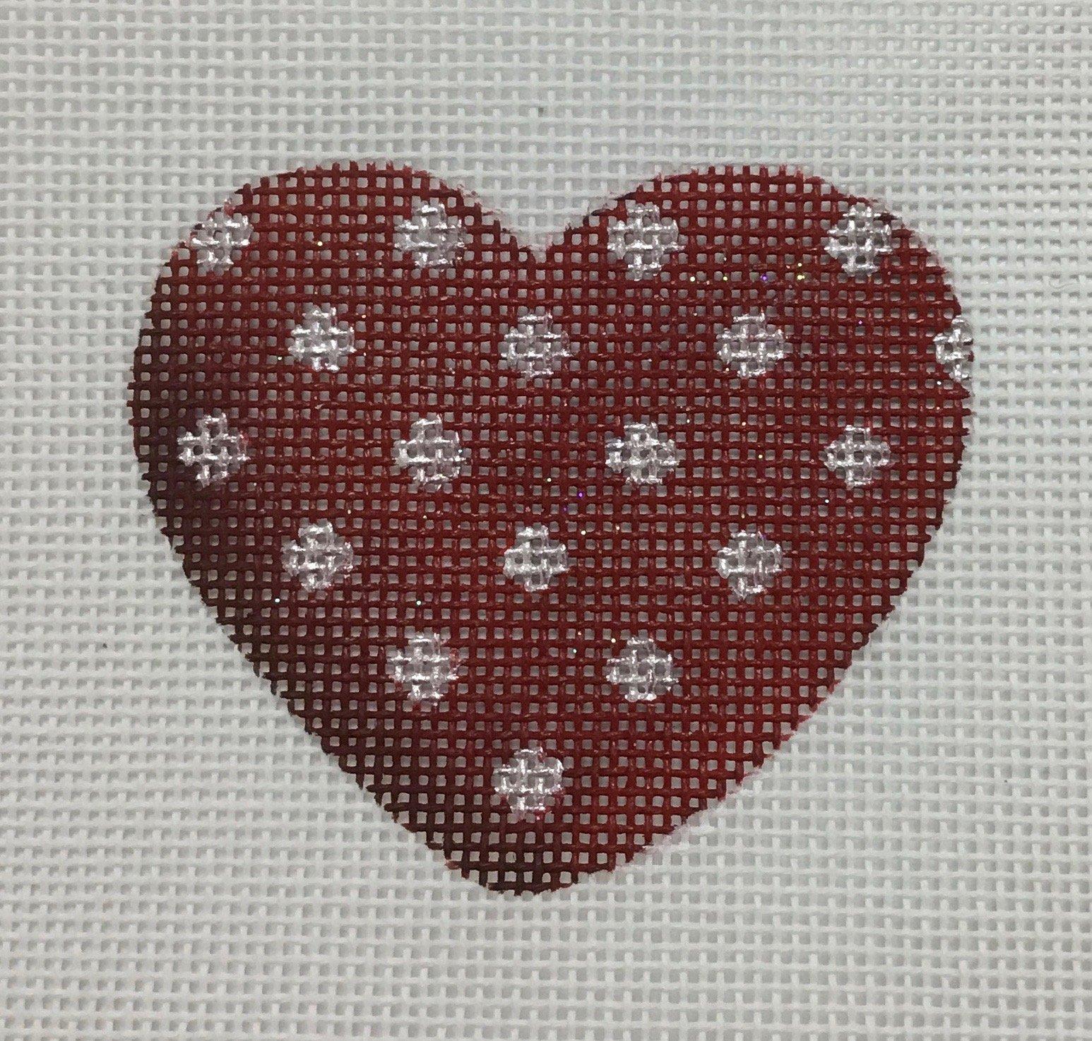 Red Polka Dot Heart, 18M, 2.75x2.75