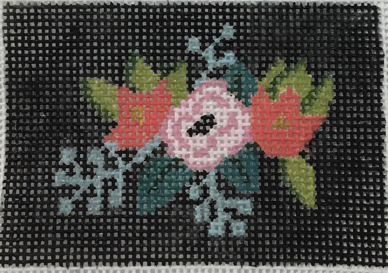 Insert Floral Sq. on Black, 18M, 3x2