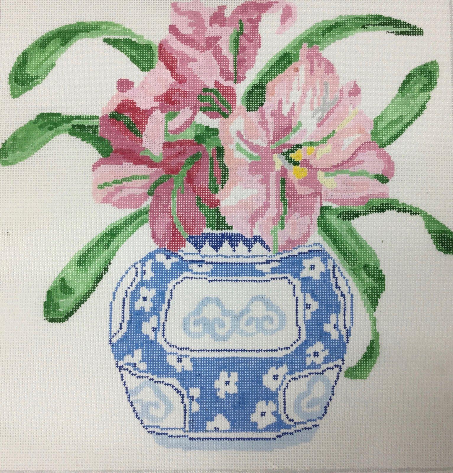 Blooming Amaryllis,13 ct.,14x14