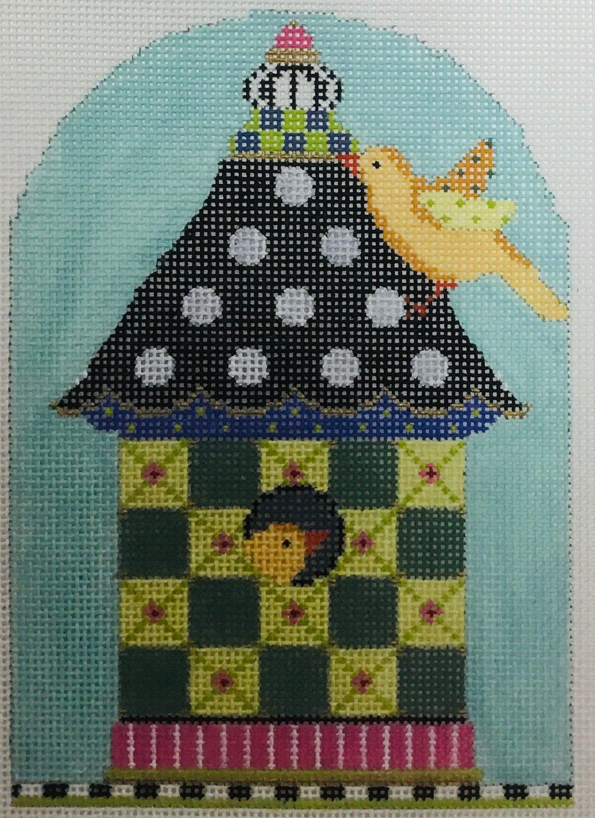 Green Checkers Bird House, 18M, 4x7.15