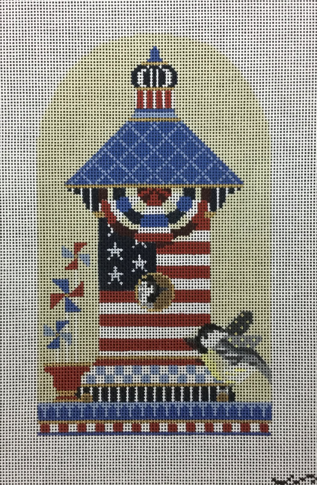 Chickadee Patriotic House, 18M, 4.25x7.25
