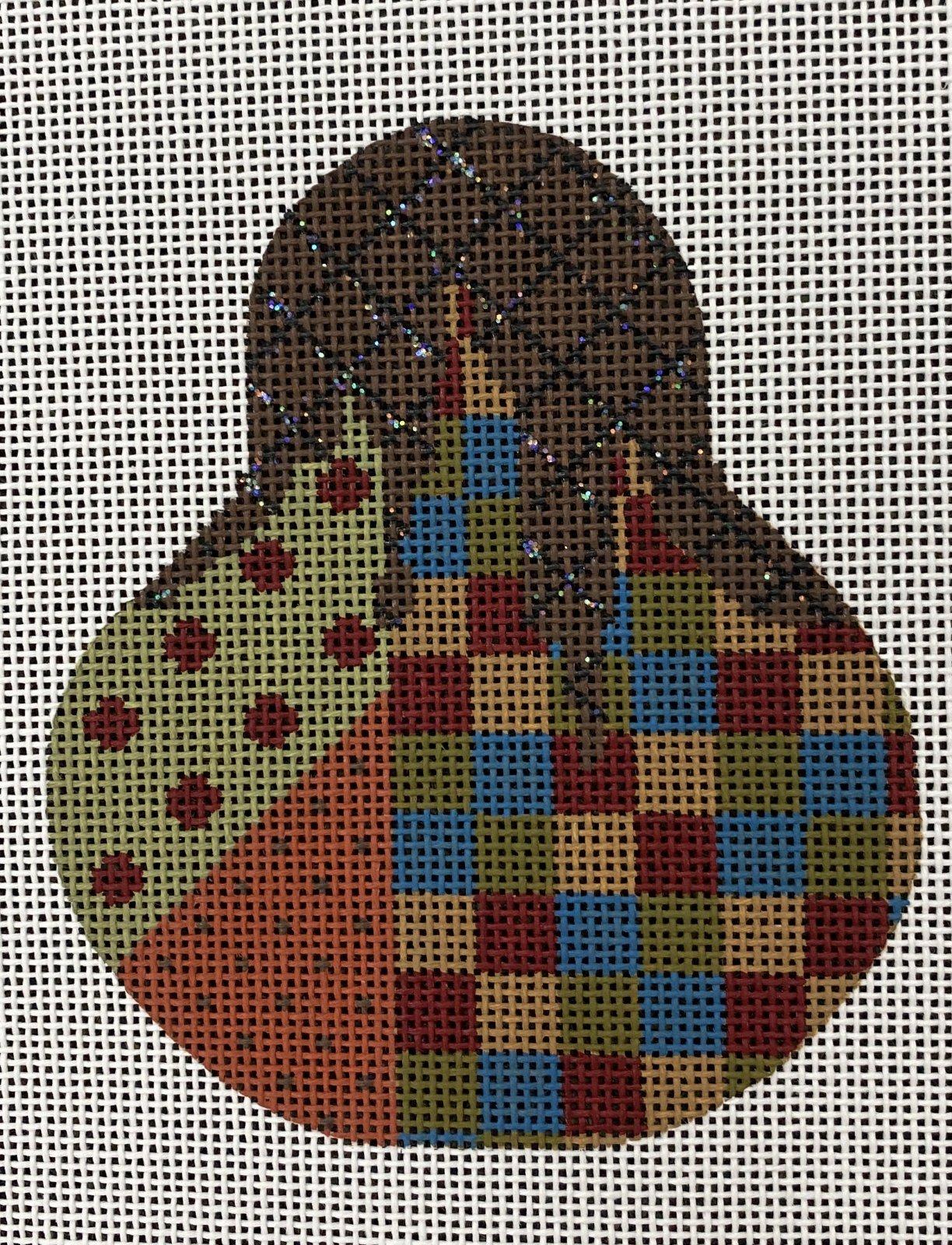 Autumn Checkered Madness, 3.5x4, 18M